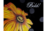Golden Daisy & Lady Bug, 16x20 acrylic painting, $45— at Joyful Arts Studio.