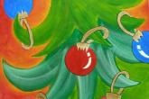 Jingle Tree, 16 x 20, acrylic painting, 2.5 hour class, fee is $40. — at Joyful Arts Studio.