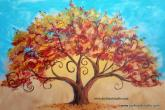 Tree of Life, 24 x 36 canvas, 6-hour class, fee is $100 — at Joyful Arts Studio.