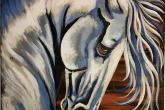 Stallion, 16 x 20, acrylic painting, 2 hour class, fee is $45. —at Joyful Arts Studio.