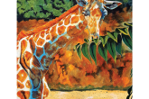 April the Giraffe,  acrylic painting, $60 for 6 hour class — at Joyful Arts Studio.