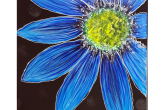 Blue Shasta Daisy, 16x20 acrylic painting, $45 — at Joyful Arts Studio.